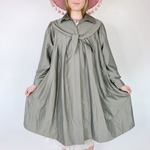 Vintage 70s Bow Collar Button Down Tent Coat
